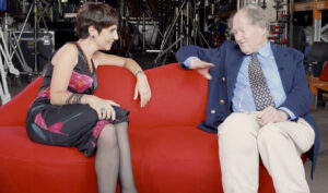 Phyllis Foundis and David Duffy chat on the Lip Lounge